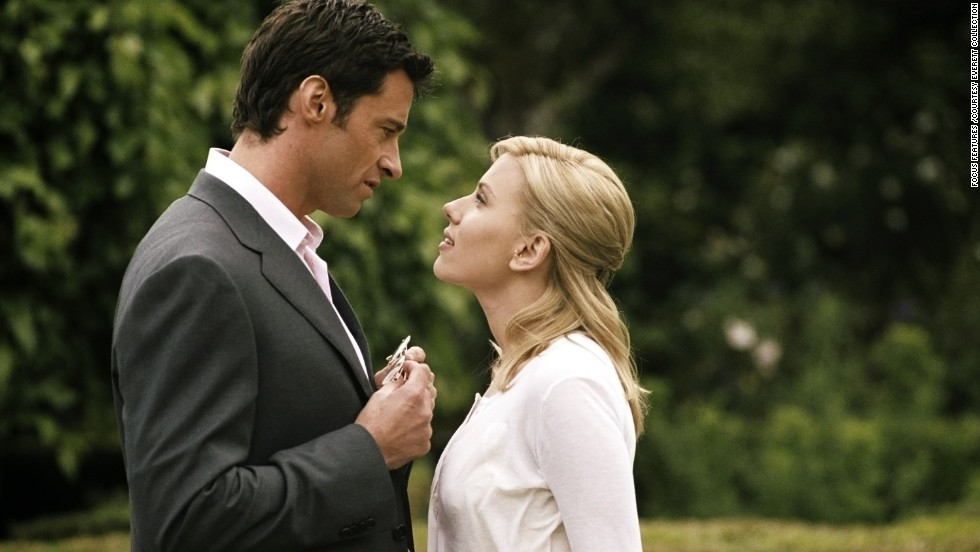 "Hugh Jackman and Scarlett Johansson star in the 2006 film ""Scoop,"" which was directed by Woody Allen."