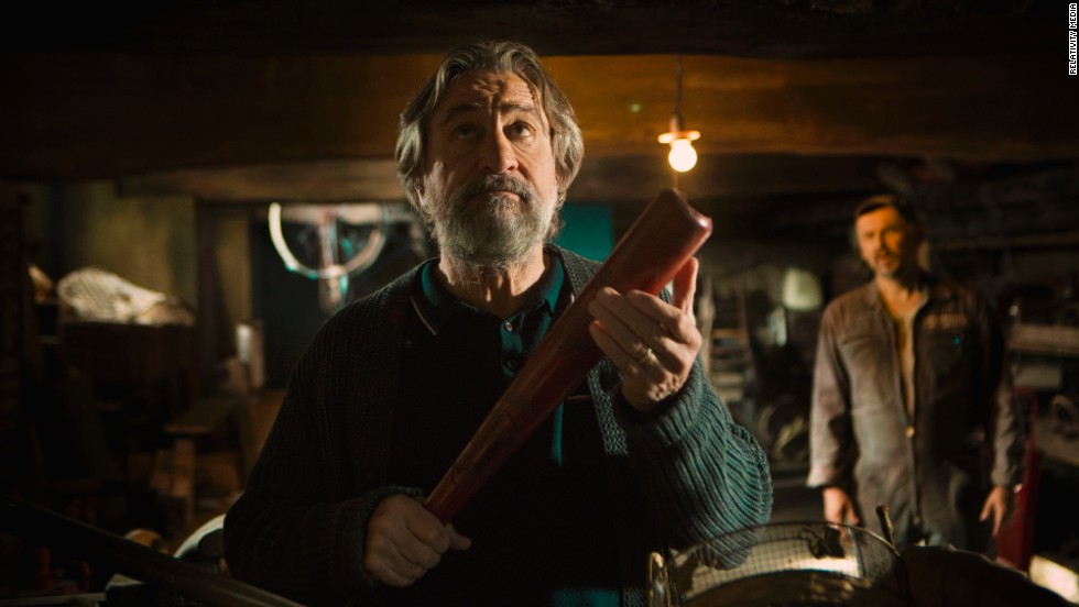 "Robert De Niro is the patriarch of a murderous clan in the 2013 dark comedy ""The Family."""