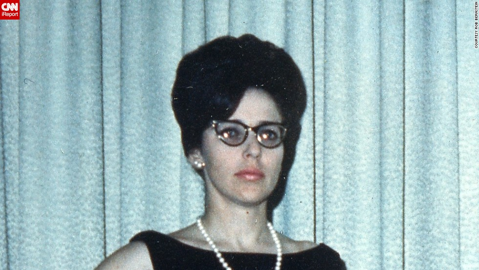 "<a href=""http://ireport.cnn.com/docs/DOC-1119535"">Rob Bernstein </a>shared a photo of his mother in the late 1960s dressed for an evening event in Acton, Massachusetts. He says fashion back then was a lot more formal than today, but they also wore ""crazy colors"" too."
