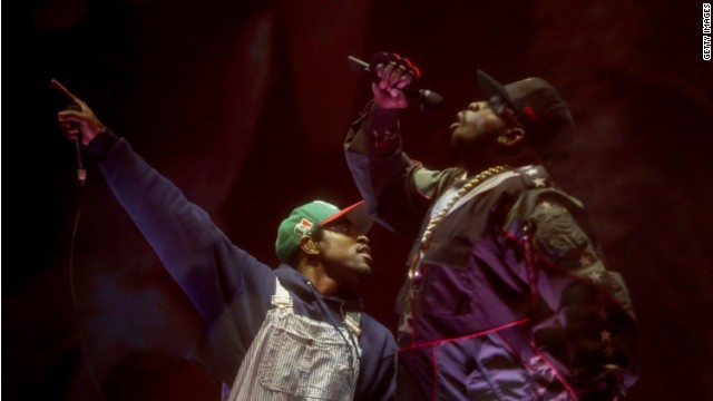 Andre 3000 and Big Boi of Outkast reunite at Coachella 2014.