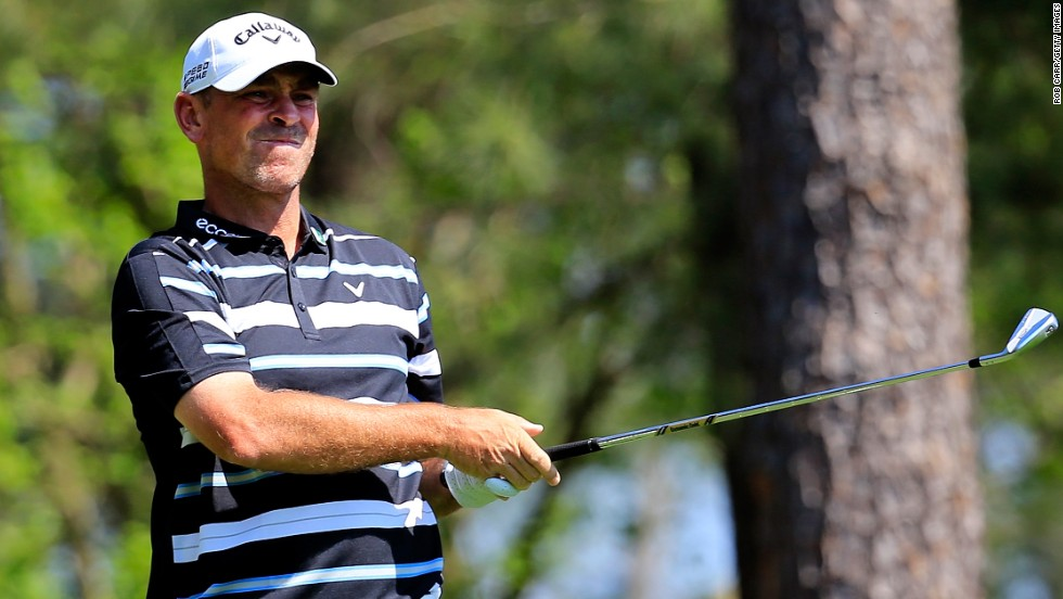 Thomas Bjorn, three times a runner up at majors, remains in contention although he dipped on the back nine Saturday.