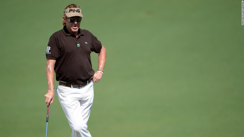 Miguel Angel Jimenez would, at 50, become the oldest Masters champion. The popular Spaniard sits at 3-under after his 66 Saturday.