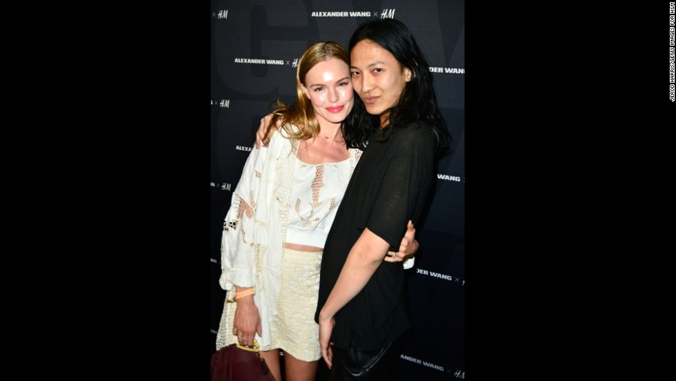 Actress Kate Bosworth and designer Alexander Wang arrive at a Coachella party on April 12.