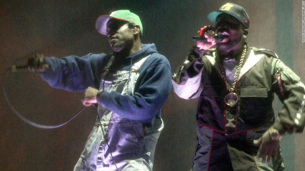 Andre 3000, left, and Big Boi of Outkast perform on Friday, April 11.