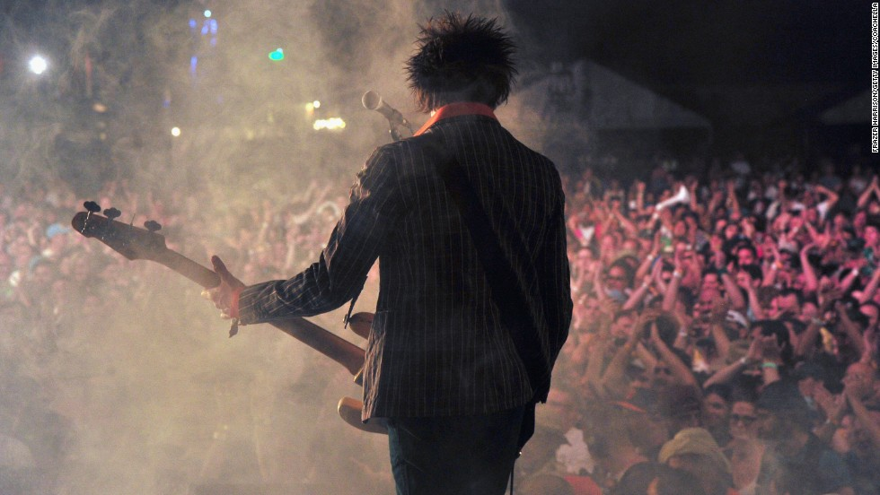 Tommy Stinson of The Replacements performs on April 11.