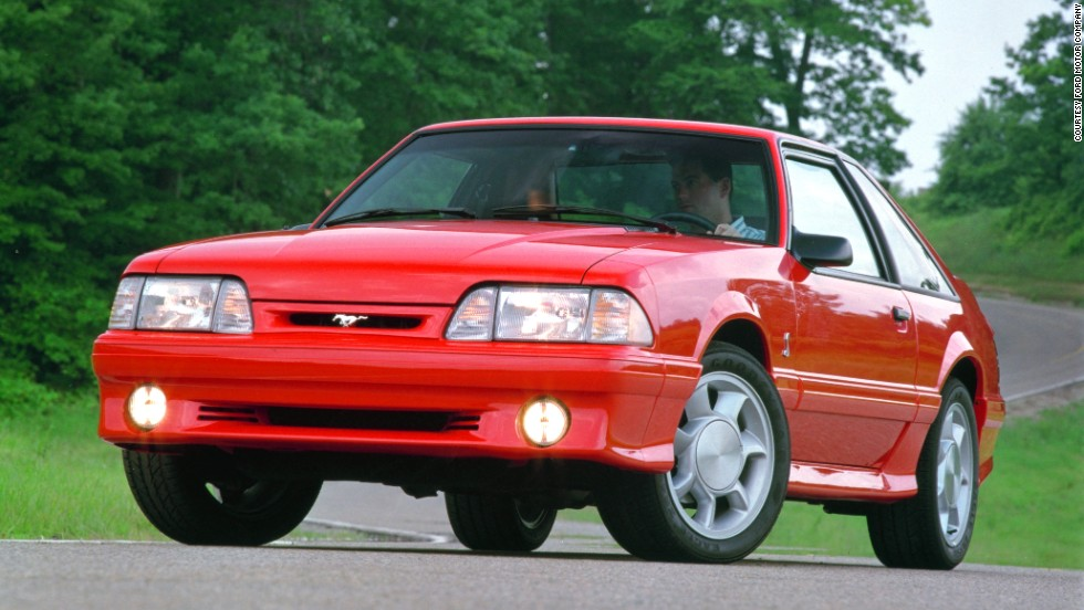 <strong>1993 Ford Mustang Cobra. </strong>Ford's Special Vehicle Team introduced a limited-production SVT Mustang Cobra with special styling cues and performance upgrades.