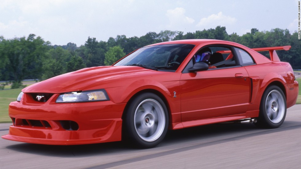 <strong>2000 Ford SVT Mustang Cobra. </strong>The third SVT Cobra R was produced with a limited run of 300 cars. It featured a 385-horsepower 5.4-liter DOHC V-8, and it came with the first six-speed manual transmission ever in a Mustang.
