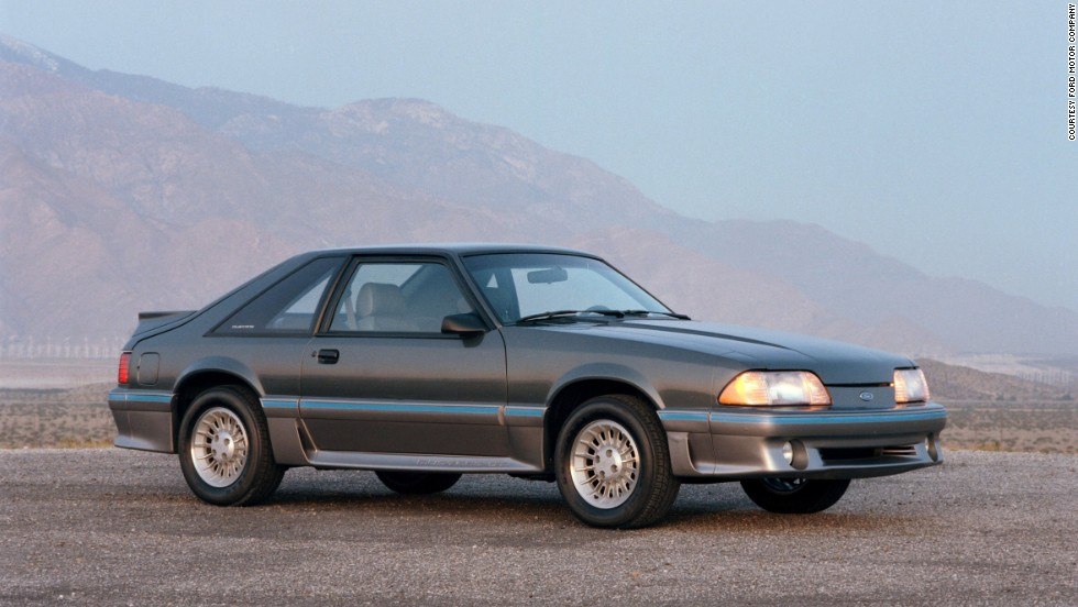 "<strong>1987 Ford Mustang GT.</strong> The Mustang was redesigned in 1987, adopting an ""aero-look"" body that included faired-in headlamps."