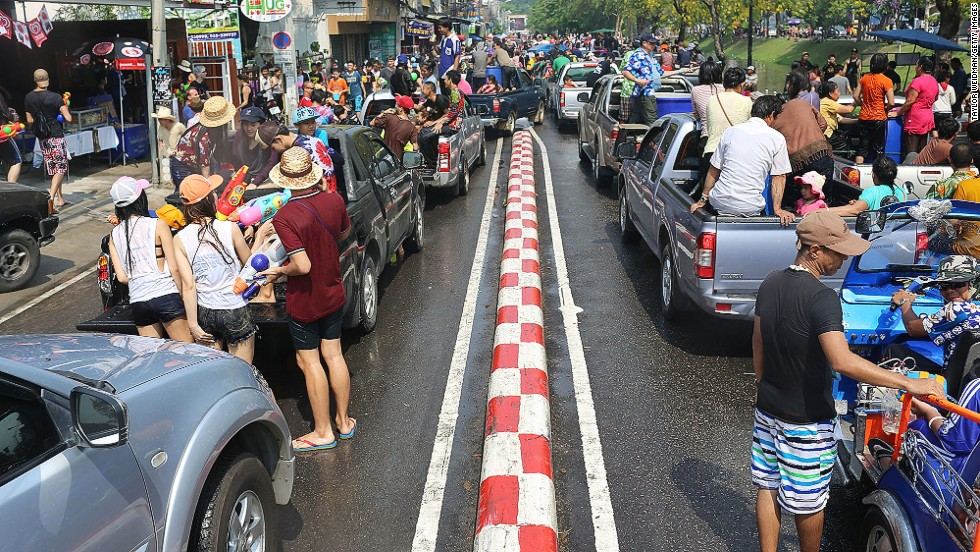 "There is a downside to the revelry. Songkran is the deadliest time of year to be on the roads in Thailand. In the three days running up to this year's Songkran celebrations, April 11-13,  <a href=""http://www.bangkokpost.com/news/local/404923/motorcycles-involved-in-76-of-accidents"" target=""_blank"">government statistics</a> recorded 161 deaths and 1,640 injuries in 1,539 road accidents."