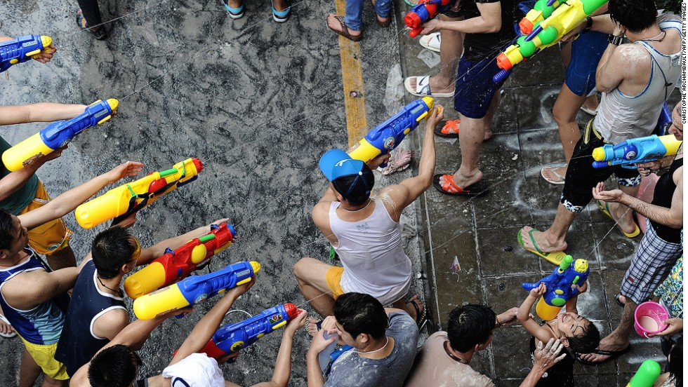 Though Thailand's New Year celebrations are the most well-known, attracting tourists from around the region, Songkran is also celebrated in Myanmar, Cambodia and Laos.