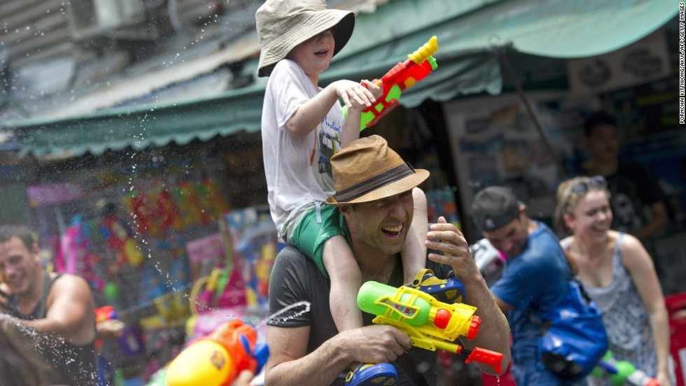 In Bangkok, Khao San Road is one of the most popular places for tourists to join the Songkran festivities.