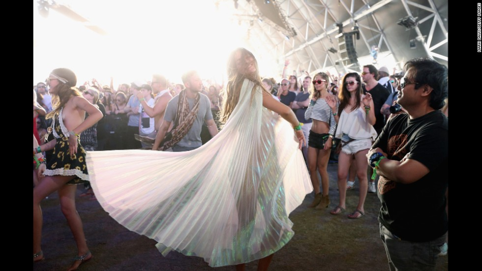 TV personality Lucy Aragon attends Coachella on April 13.