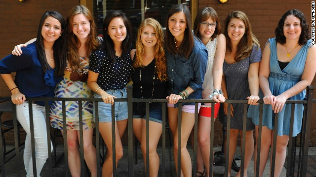 Julia Carpenter, second from right, and her Lean In Circle in 2013. They all attended University of Georgia.