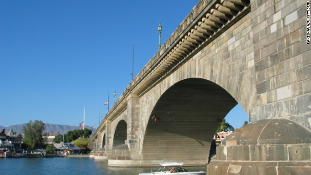 England over Arizona: London Bridge in Lake Havasu City.