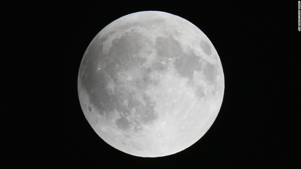 The moon is seen from Miami before the beginning of the total lunar eclipse. The blood moon was most prominent in North and South America.