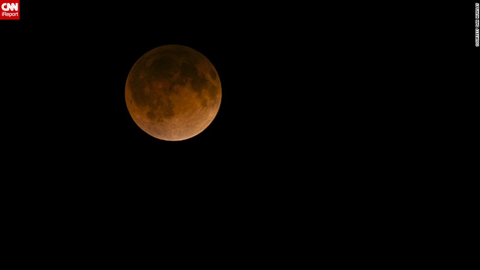 "CNN iReporter <a href=""http://ireport.cnn.com/docs/DOC-1120753"">Dan Huntley</a> mostly does landscape and travel photography, but he turned his camera to the sky for this shot of the ""blood moon"" over Dallas in April. Huntley has seen eclipses before but not a blood moon. He described it as being ""quite amazing."""
