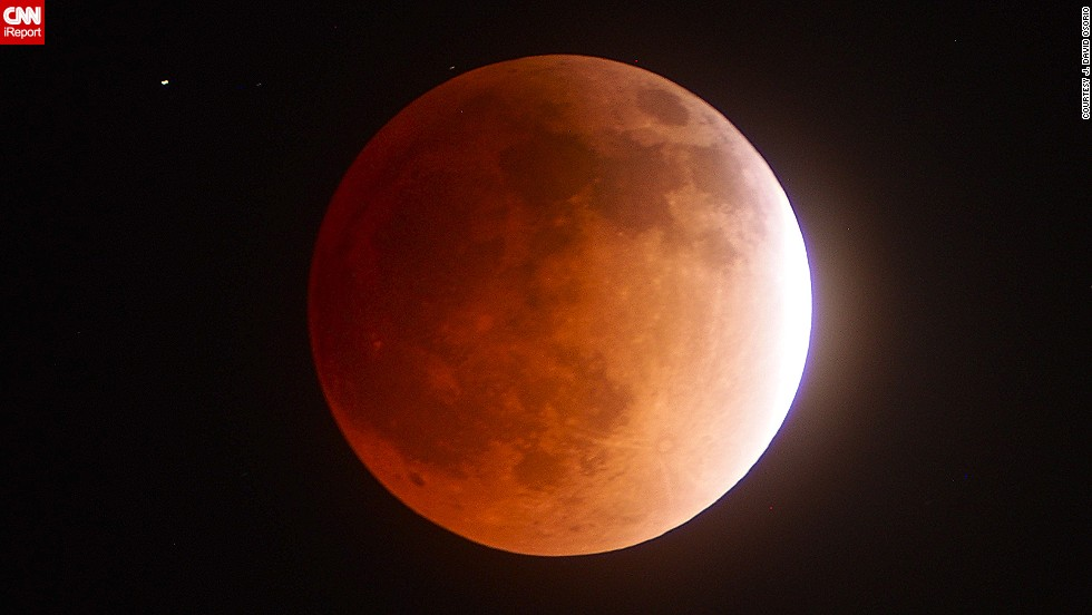 "No stranger to astronomical photography, J. David Osorio photographed the different phases of the lunar eclipse. He started photographing at 10:45 p.m. April 14 and stopped at 3 a.m. April 15. See more of his <a href=""http://ireport.cnn.com/docs/DOC-1121013"">photos</a> of the moon's progression."