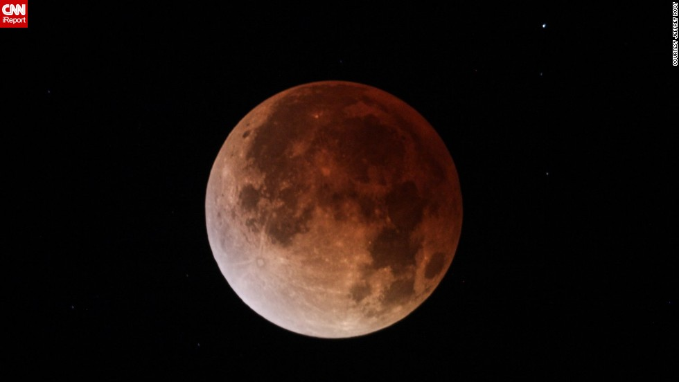 "<a href=""http://ireport.cnn.com/docs/DOC-1120755 "">Jeffrey Root</a> shot this photo of the April 15 blood moon through a telescope in Salt Lake City."