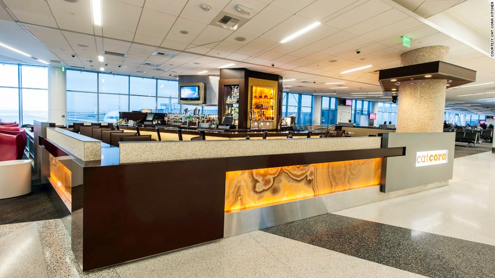 "At San Francisco International Airport, Greek fisherman stew and lobster mac and cheese complement cocktails such as ""pig in the barrel,"" a mix of buffalo-trace bourbon with smoked bacon."
