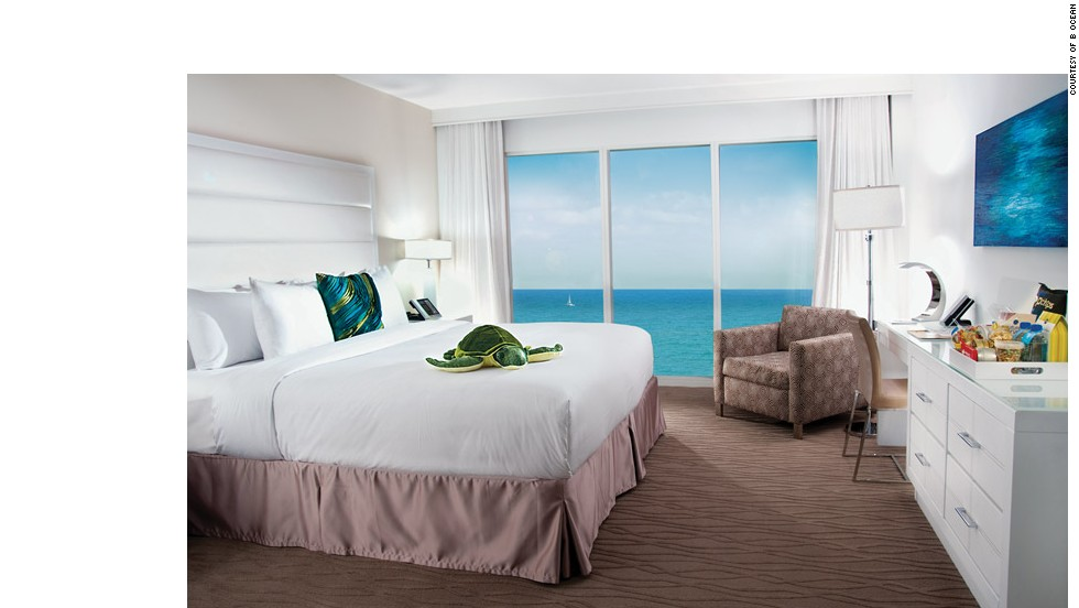 Enjoy wine on the beach, free Wi-Fi and a sushi bar at the B Ocean in Fort Lauderdale, Florida.