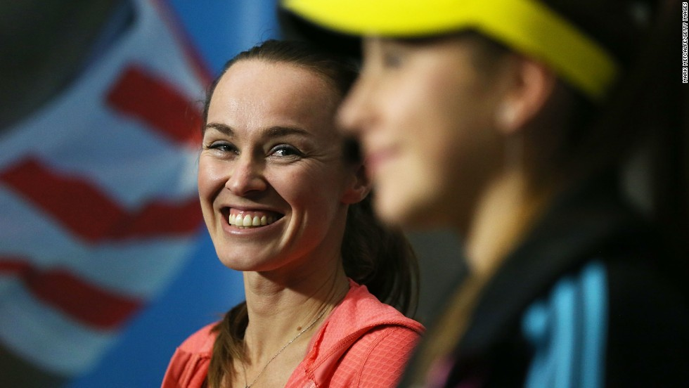 "In January 2014, Bencic fought an exhibition match against Hingis, billed as ""the Master versus the Apprentice"" -- but lost out to her childhood idol."