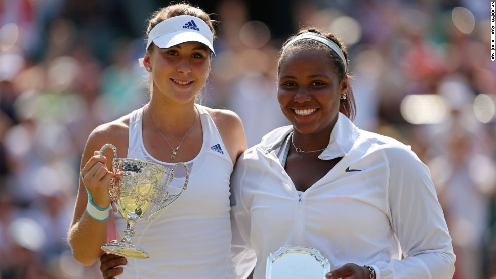 In July 2013, Bencic beat America's Taylor Townsend to take the Wimbledon girls' championship, having already won the French Open in Paris the previous month.