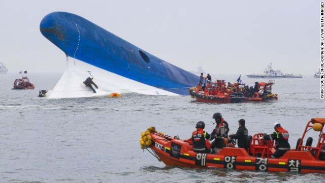 Nearly 300 missing in ferry disaster