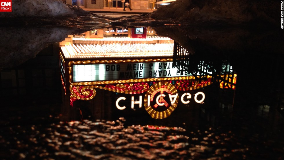 "When Craig Shimala thinks of Chicago, the first image that pops into his head is the famed Chicago Theater. When the <a href=""http://ireport.cnn.com/docs/DOC-1121639"">marquee is lit</a> at night, ""it's like it's beaming with the city's energy,"" he said."