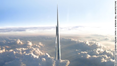 Saudi Arabia's Jeddah Tower, scheduled for completion in 2020, will rise 1-kilometer to the sky.