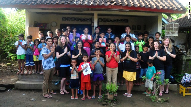 Volunteering at Bali Children's Project.