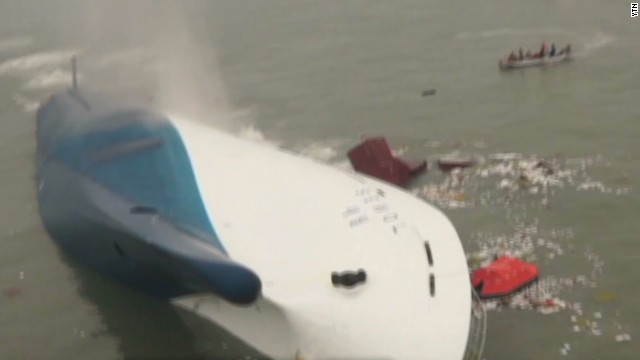 Students trapped in sinking ferry