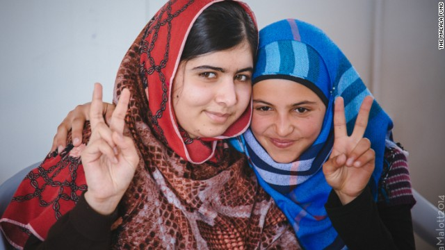 Mizune met Yousafzai when she visited the Za'atari camp in February