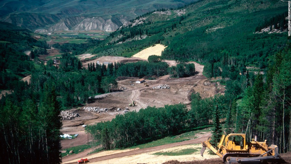This development of the upscale Vail ski resort in Colorado sits on U.S. Forest Service land. More than a third of land in Colorado is public.