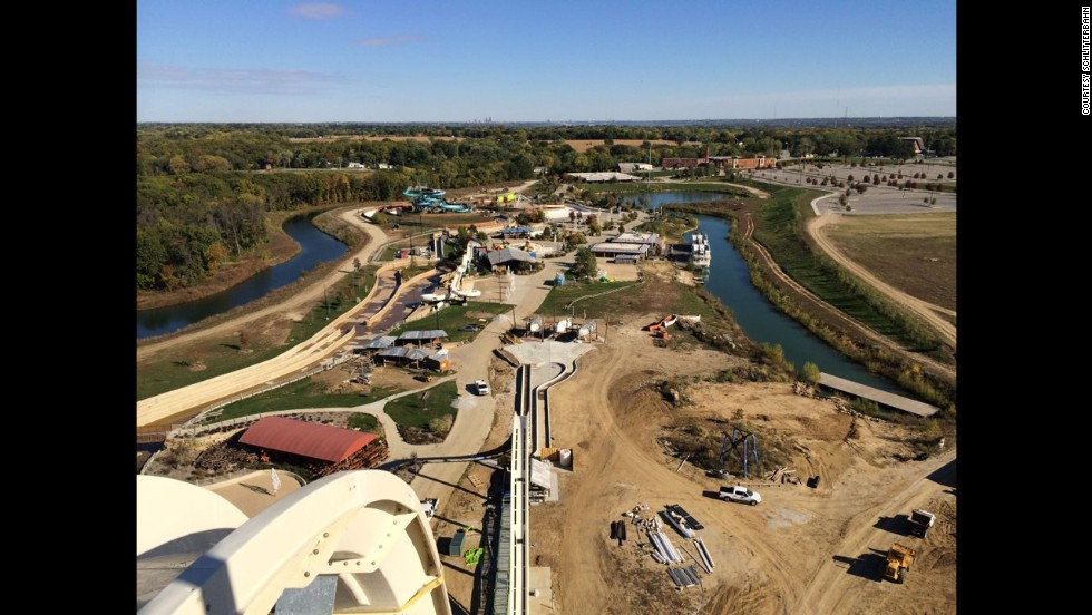 At Schlitterbahn Waterpark in Kansas City, Kansas, riders of Verrückt will have a wide view of the park from the top of the record-setting water slide.