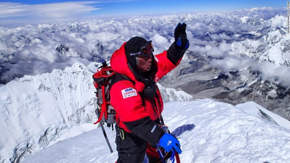 Yuichiro Miura, became the oldest person to summit Everest, on May 23, 2013, at the age of 80.