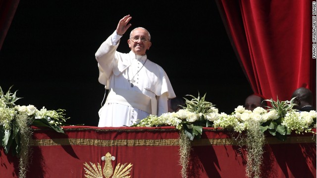 Pope Francis delivers his 'Urbi Et Orbi' blessing during Easter Mass in St. Peter's Square on April 20, 2014 in Vatican City, Vatican.