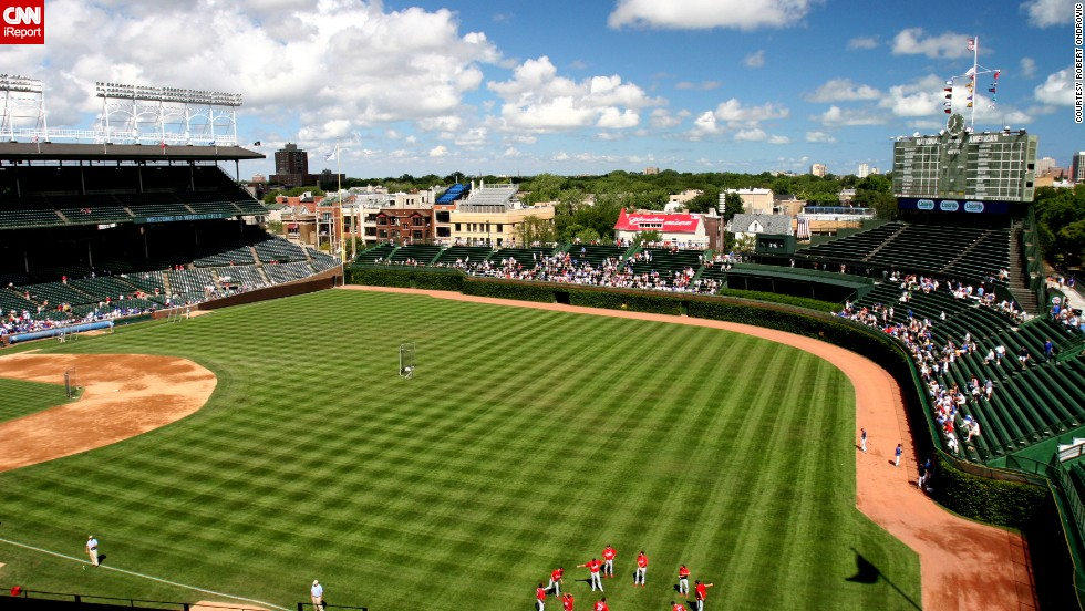 "Ondrovic's favorite thing about Wrigley field? ""The classic ivy on the outfield walls,"" he says."