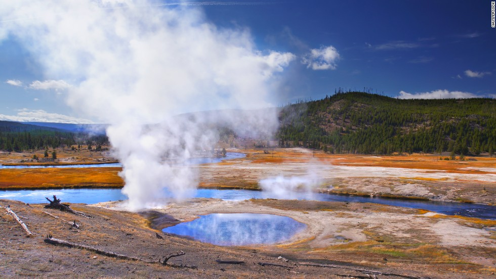 Yellowstone National Park's geysers are the result of subterranean plumbing constrictions and water heated by magma under the Earth's surface.