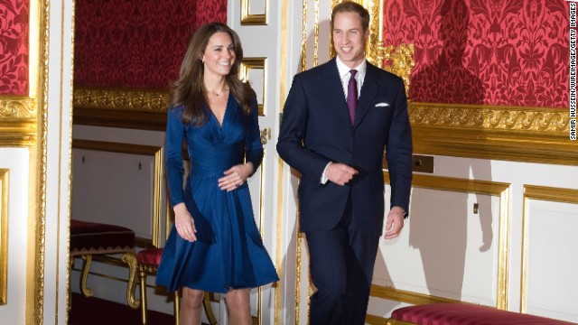 Prince William and Kate Middleton arrive to pose for photographs in the State Apartments of St James Palace on November 16, 2010 in London, England. After much speculation, Clarence House today announced the engagement of Prince William to Kate Middleton. The couple will get married in either the Spring or Summer of next year and continue to live in North Wales while Prince William works as an air sea rescue pilot for the RAF. The couple became engaged during a recent holiday in Kenya having been together for eight years.