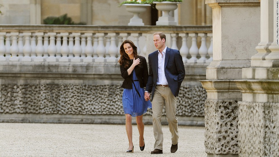 Proving once again she's more high street than high end, Kate wears a $85 Zara dress to walk hand-in-hand with William from Buckingham Palace the day after their wedding last year. This time copy-Kates had a whole 24 hours to snap it up.