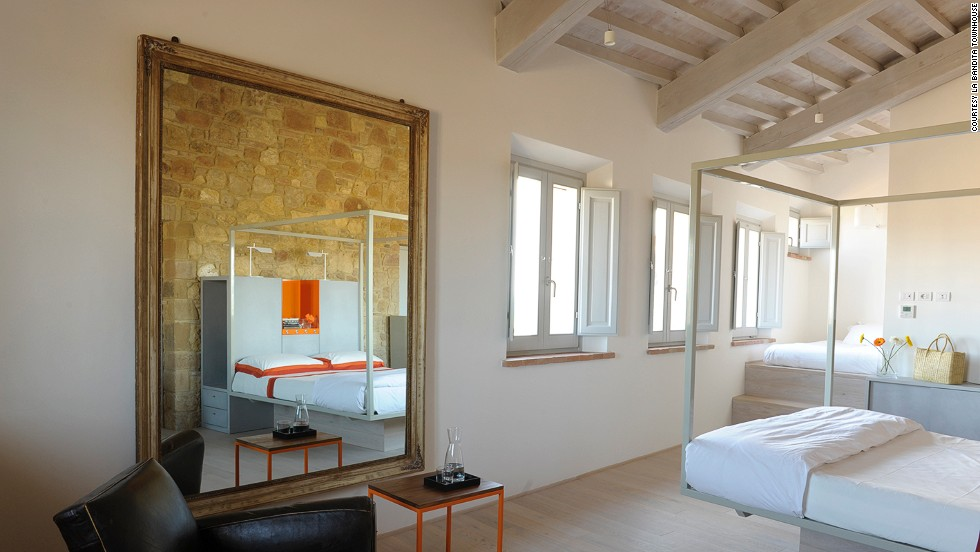 This 12-room inn is a former medieval convent in the ancient, pedestrians-only Italian town of Pienza. La Bandita Townhouse wins praise for family friendly policies that include feeding and mopping up after kids at no extra charge.