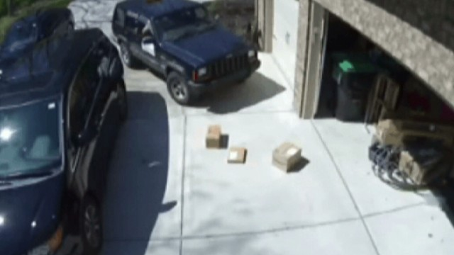 Postal worker throws packages out of car