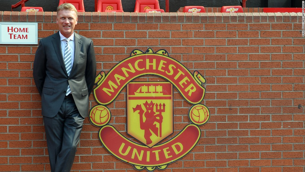 Moyes was Ferguson's personal choice to succeed him at Old Trafford and he urged the fans to get behind their new manager. The then-Everton boss signed a six-year deal on May 9 and took over the reins on July 1.