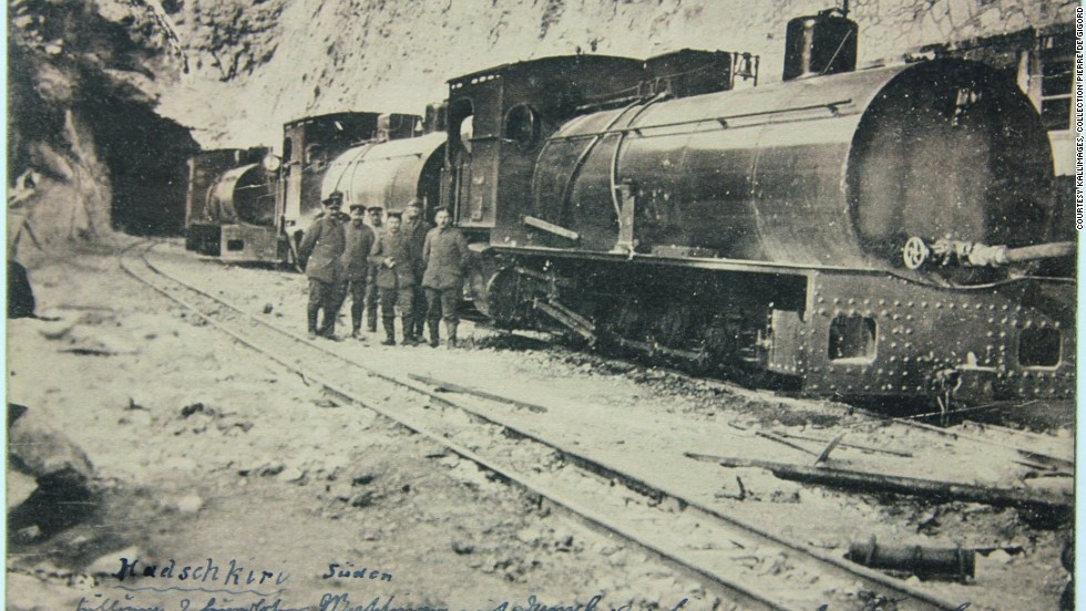 The train was the creation of Belgian entrepreneur George Nagelmackers, with its maiden journey in 1883. It crossed Europe with a final stop in Istanbul, or Constantinople as it was known at the time, opening up the Levant for a new generation of travelers. Here, the train is pictured on its way through Turkey.