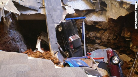 A 40-foot-wide, 30-foot-deep hole claimed eight cars in 2014.