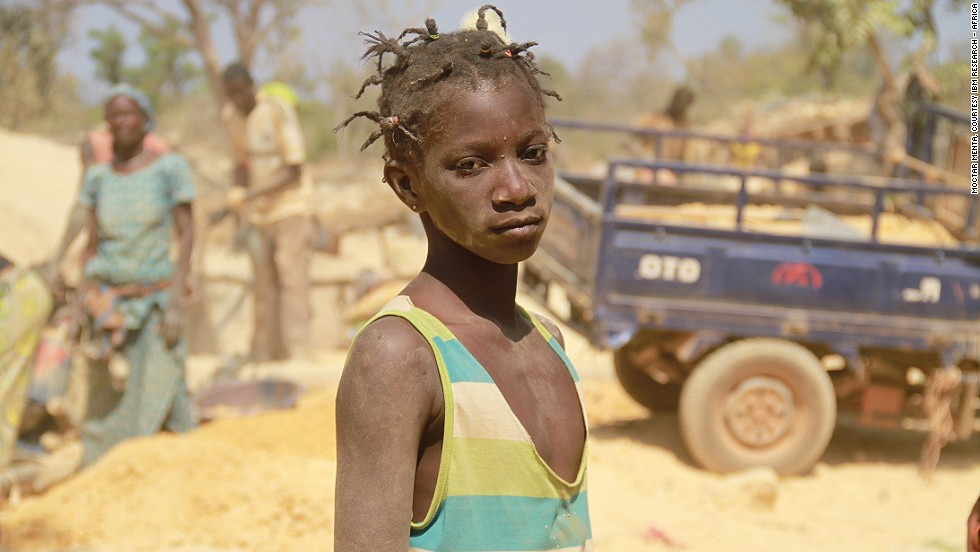 """Face of Hope"" shows a child in Mali, Africa's third largest gold producer."
