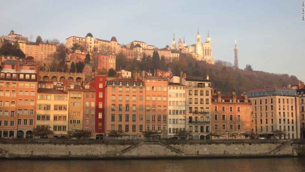 Morning on the Saone River in Lyon.