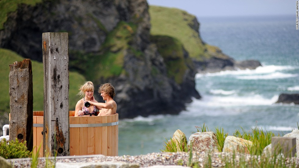 You can soak away any ghostly Cornish chills in a clifftop hot tub at The Scarlet Hotel.