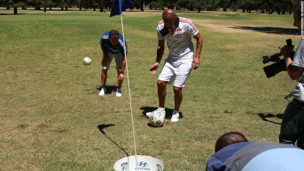 FootGolf has proved to be hugely popular with footballers. Former Argentina international Juan Sebastian Veron is an ambassador for the Asociacion Argentina de FootGolf.