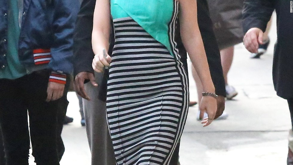 "Katy Perry makes her way to her fans before taping ""Jimmy Kimmel Live!"" on April 21."
